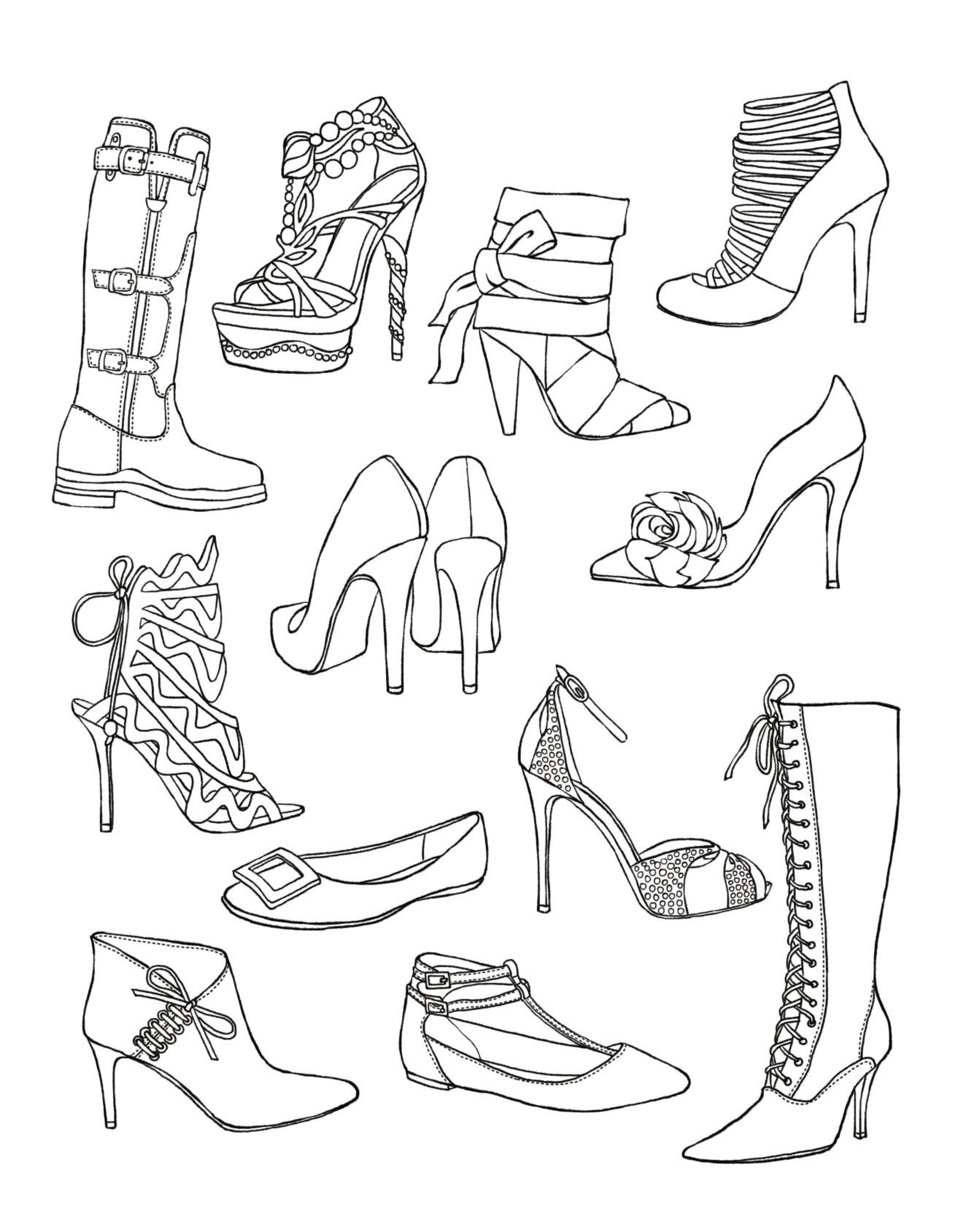 Shoes Coloring Page Fun Stuff Pinterest