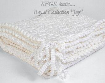 Designer Baby Blanket Kfgk Royal Collection 100 Pima Cotton Pure White Textured Des Christening Baby Blanket Designer Baby Blankets Knitted Baby Blankets