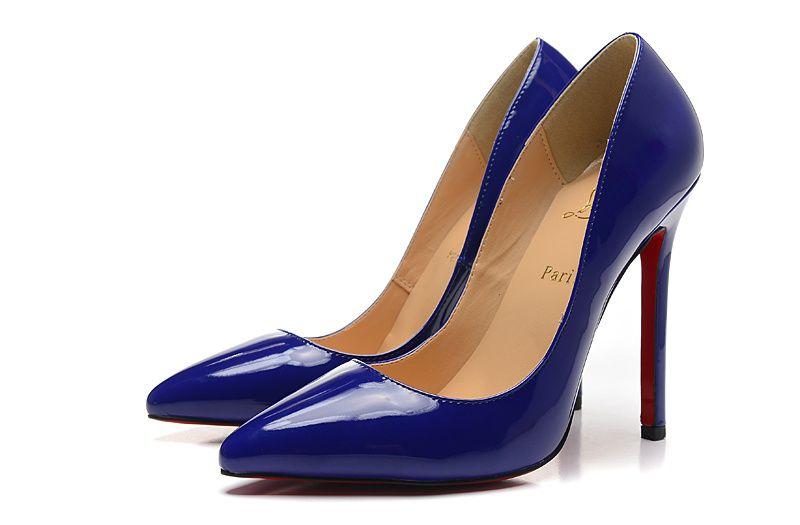 39fce882243 Christian Louboutin 12CM Dark Blue Patent Leather Pumps