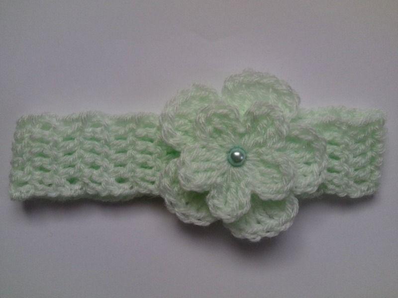 Bandeau de bébé au crochet de Tatjana474 sur DaWanda.com