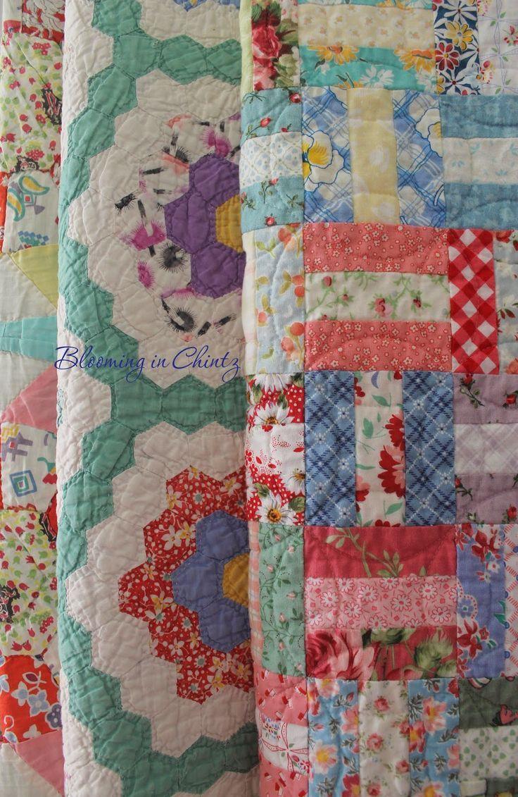 Vintage Quilts bloominginchintz…. - Quilt Decor