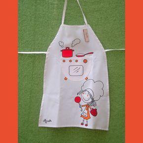 Mandil de chef para ni os imagui delantales - Delantales y gorros de cocina para ninos ...