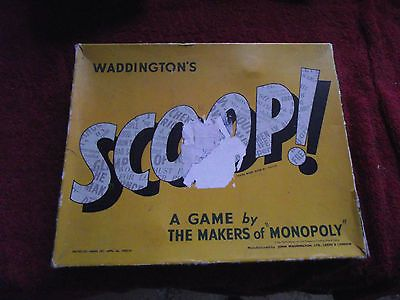 Vintage #waddingtons scoop board game 1950u0027s great #retro - traditional 2 resume template