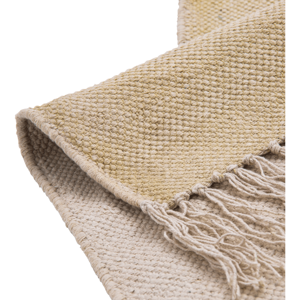 tapis en coton beige roucas 100x150cm
