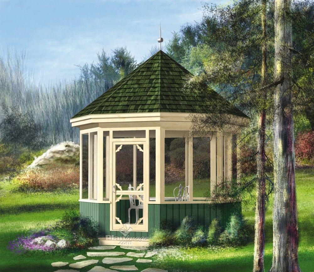 ce joli gazebo en bois avec ornement de toit agr mentera un jardin fleuri sa porte et ses. Black Bedroom Furniture Sets. Home Design Ideas