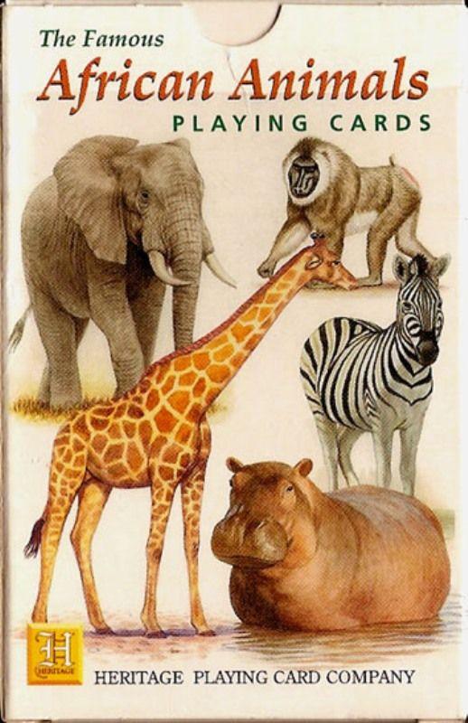 Nombre: African Animals. Pais: Bélgica. Fabricante: Carta Mundi Fecha:: 2.000. BARAJA ORIGINAL