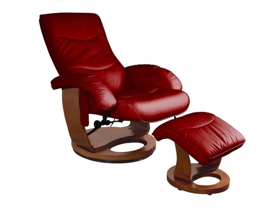 fauteuil de relaxation massant buffalo cuir rouge vente. Black Bedroom Furniture Sets. Home Design Ideas