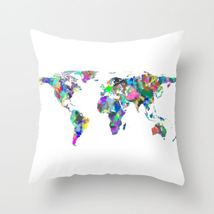World map pillow cover spray paint map globe cushion cover map world map pillow cover spray paint map globe cushion cover map throw pillow gumiabroncs Choice Image