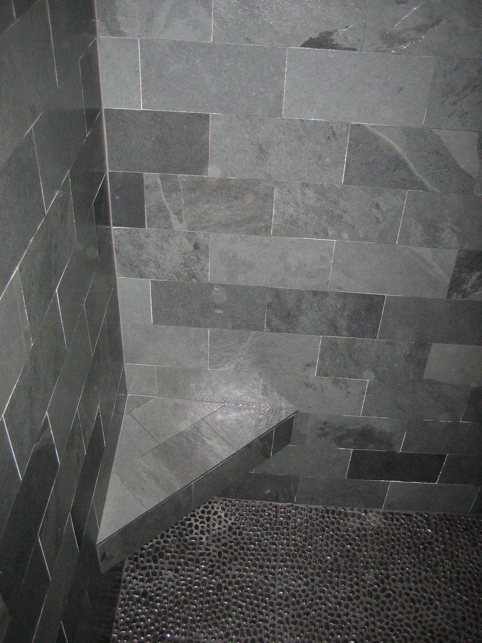 Gray Stone Bathroom