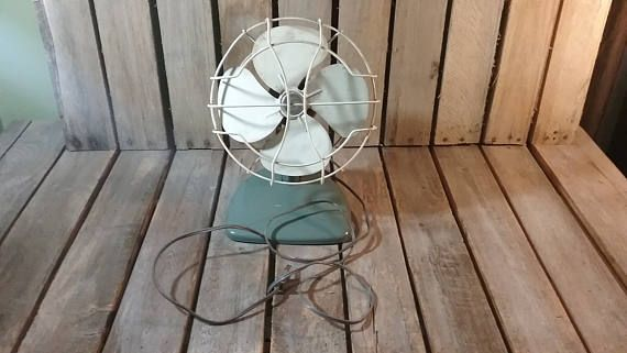 Small Metal Fan Vintage Fan Old Desk Fan Small Office Fan