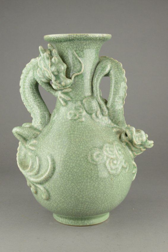 Beautifully Rendered The Chinese Porcelain Vase Is In