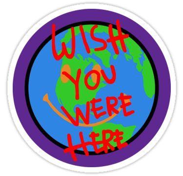 0e29b1c9acbe Travis Scott Astroworld Globe Smiley Wish You Were Here Sticker in ...