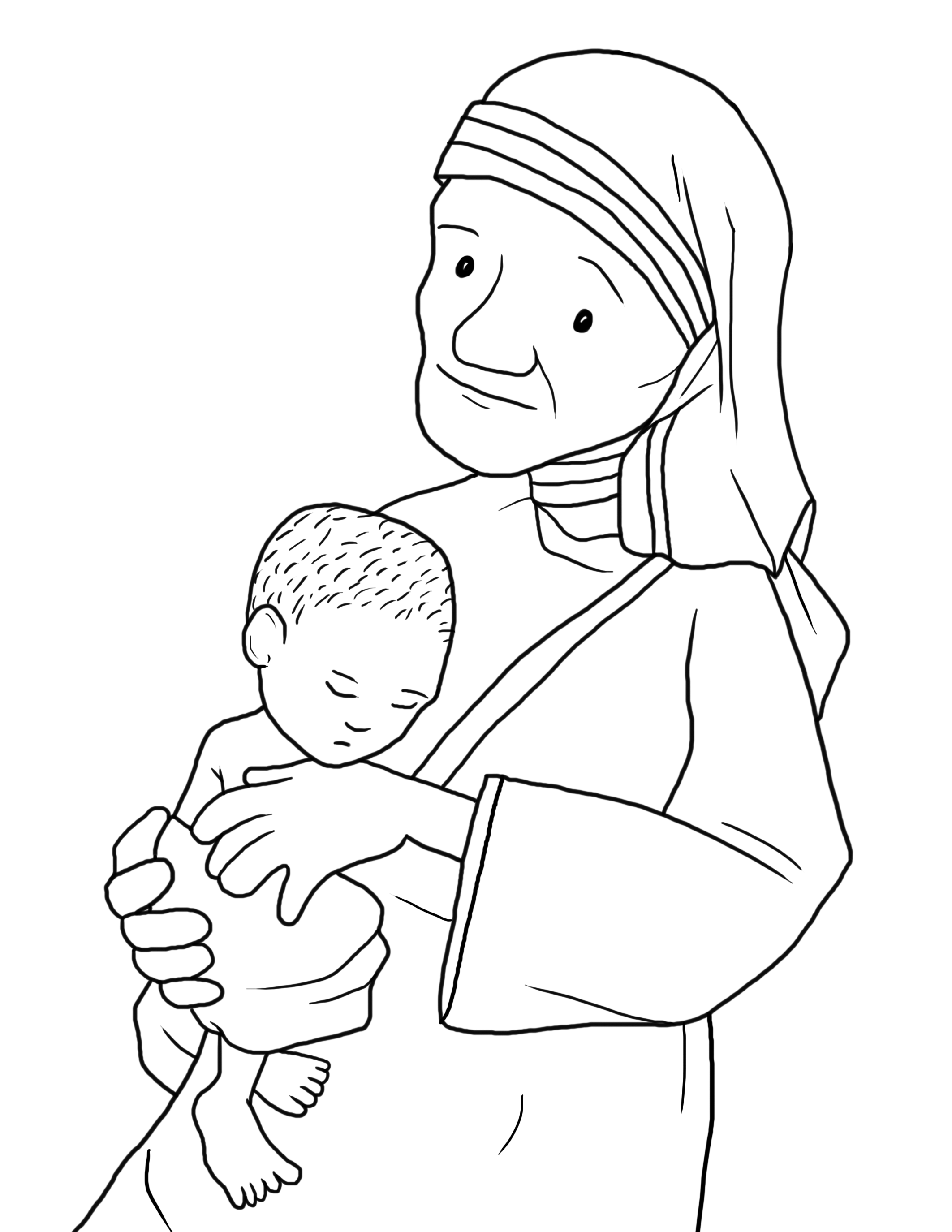 Blessed Mother Teresa Coloring Pages | coloring pages | Pinterest ...