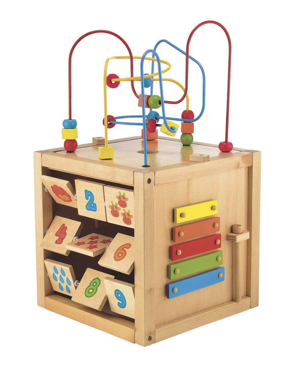 Mothercare Safari Wooden Activity Cube Wooden Toys Puzzles