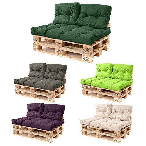 Pallet Sofa Cushions Waterproof Fabric Euro Size For Outdoor Garden Seats