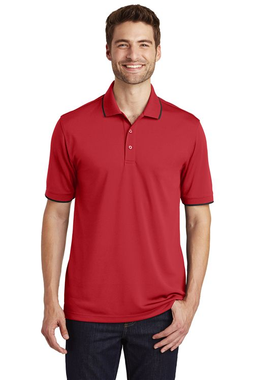 Port Authority K111 Dry Zone UV Micro Mesh Tipped Polo from NYFifth
