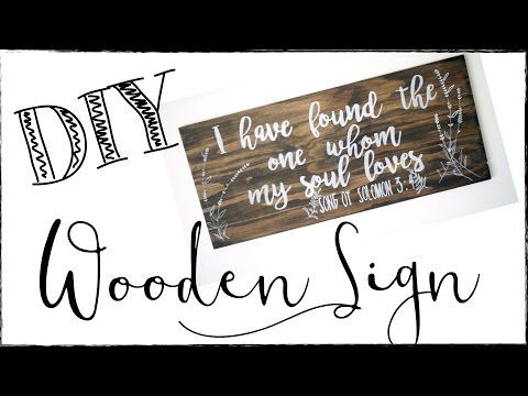 Hand Lettering Wooden Signs With Paint Pens Diy