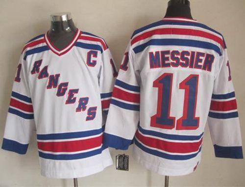 timeless design d66e1 36064 nhl jerseys new york rangers 11 mark messier white ccm ...