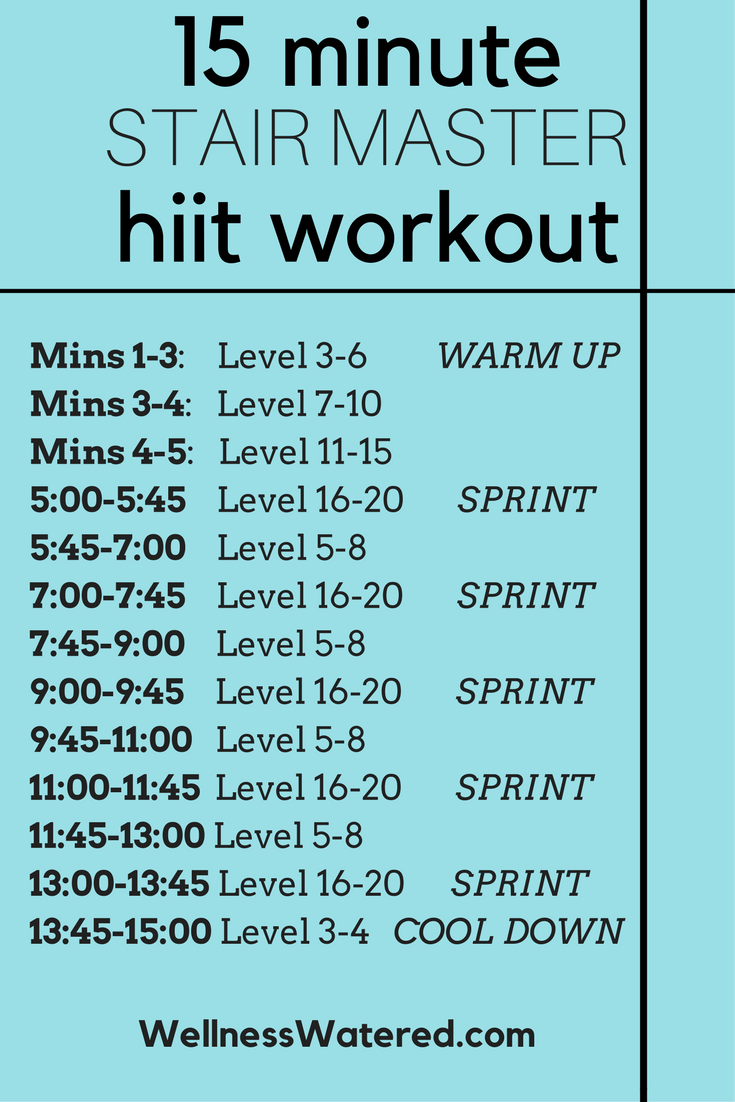 hiit worokout stair workout 15 minute cardio workout 15 minute hiit workout #stairmasterworkout