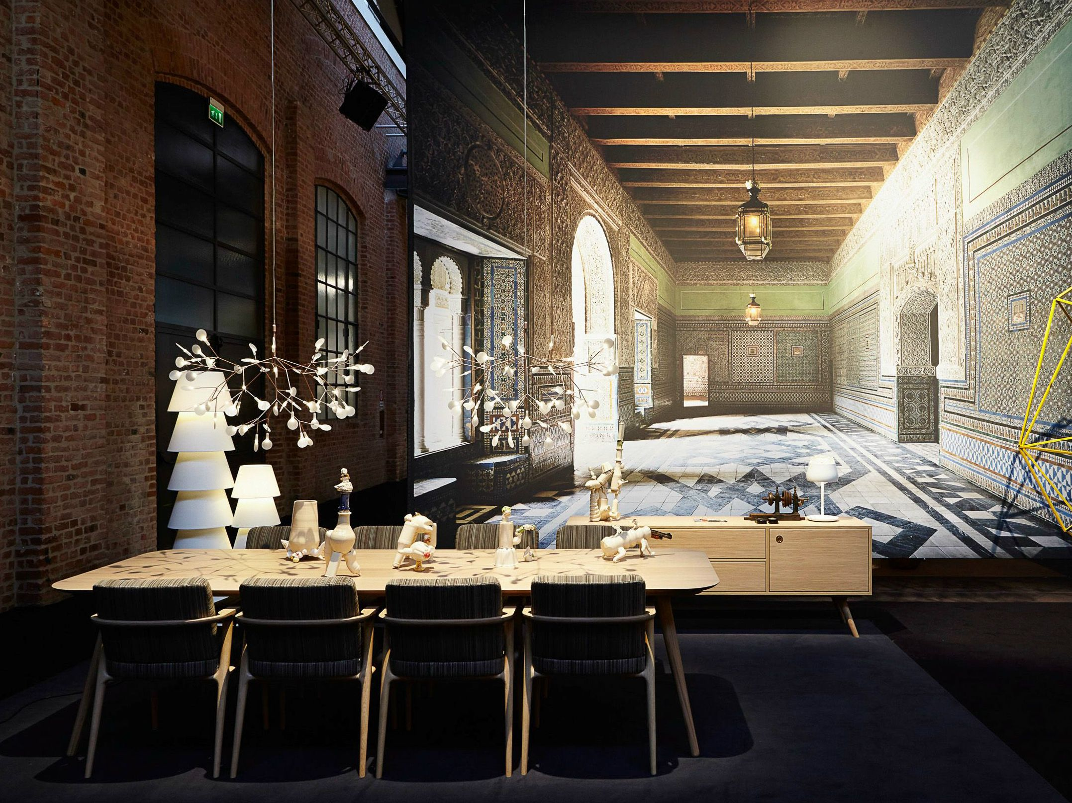 Rectangular dining table by Marcel Wanders. An modern wooden dining table for 10.