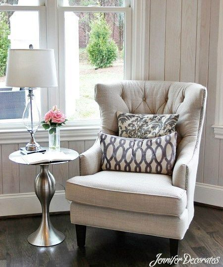 Side Chair & Table in office?Cottage style decorating ...