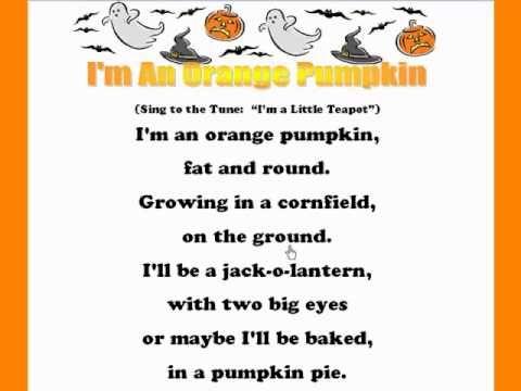 im an orange pumpkin kids halloween rhymes songs - Halloween Song For Preschool