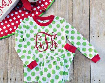Monogrammed Christmas Pajamas Adult Monogrammed by EverlyGrayce ...