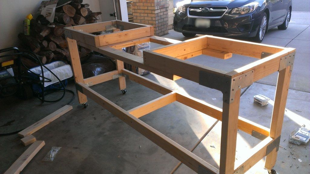 Workbench Build With Miter Saw Station In 2019 Mitre Saw