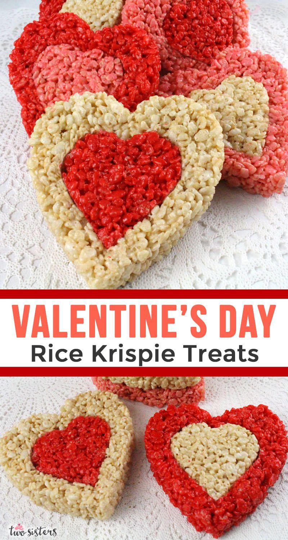 Rice Krispie Treat Valentines   Recipe in 2020   Rice ...