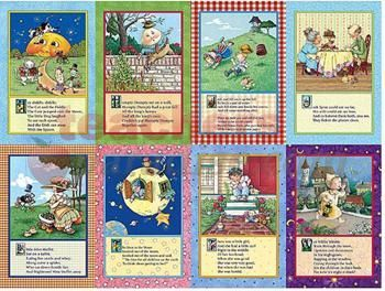 Free Printable Nursery Rhyme Posters Mother Goose Rhymes Bulletin Board From Mary Engelbreit