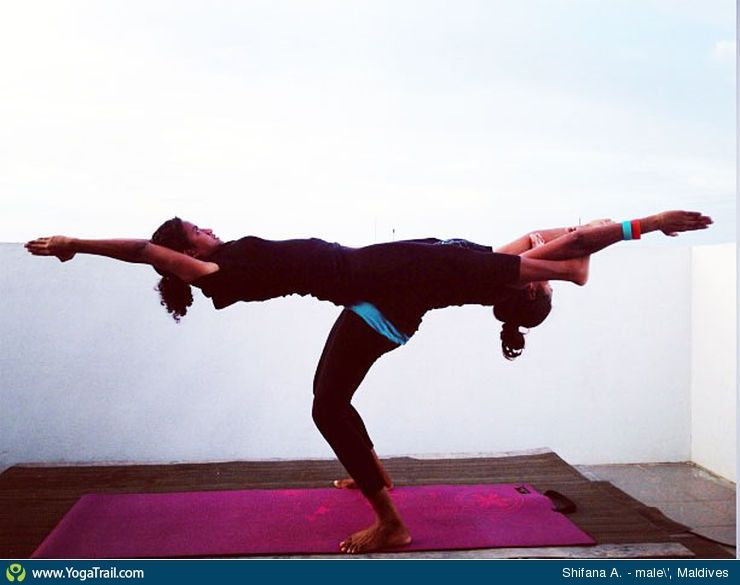 Yoga Poses Around The World Partner Acro Taken In Male Maldives By Shifana AyogaFitness