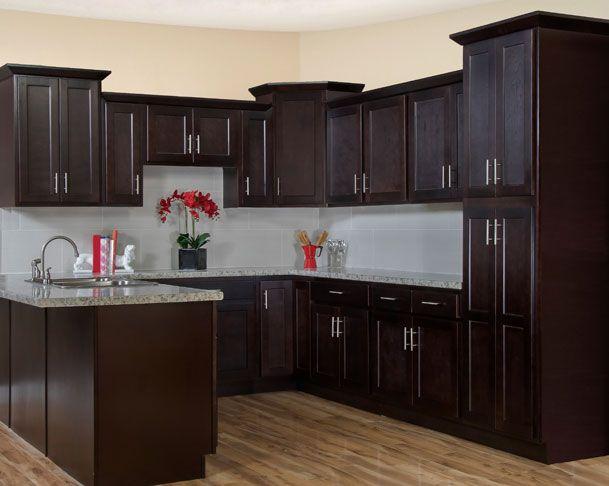 Best Shaker Espresso Kitchen Cabinet Display Espresso Kitchen 400 x 300