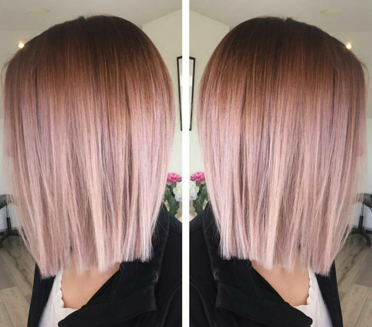 Rose Gold Ombre HOW-TO, Pricing & Formulas! #rosegoldhair #ombre #behindthechair #colormelt