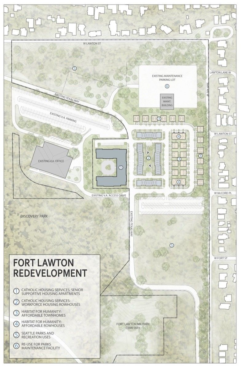 This Map Shows Where The City Proposes Putting Several Types Of Affordable Housing At Fort Lawton Affordable Housing Habitat For Humanity Parks And Recreation