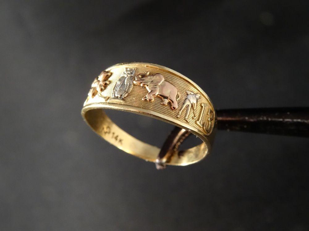 14K Solid Tri-color Gold