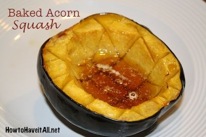 Baked Acorn Squash Recipe Winners Food Recipes Acorn Squash