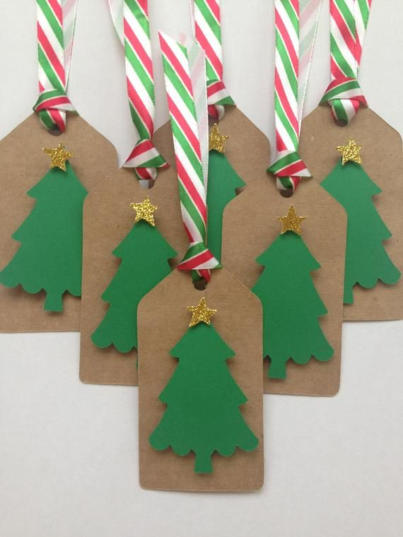 Christmas Tree Party Favor Tags Kraft Paper Christmas Tree Gift Tags Kraft Paper Christmas Tree With Gifts Christmas Tree Gift Tags Paper Christmas Tree