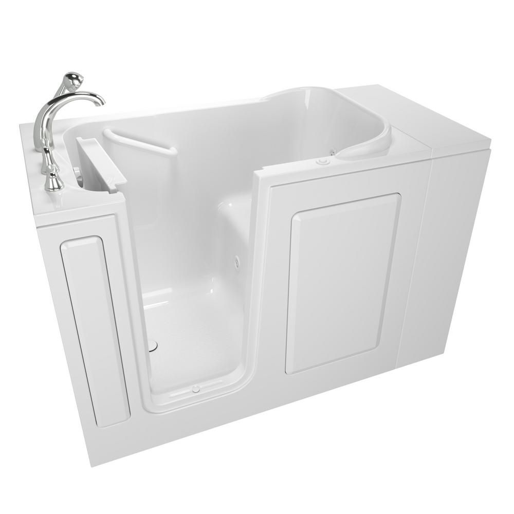 Safety Tubs Value Series 48 In Walk In Whirlpool Bathtub In
