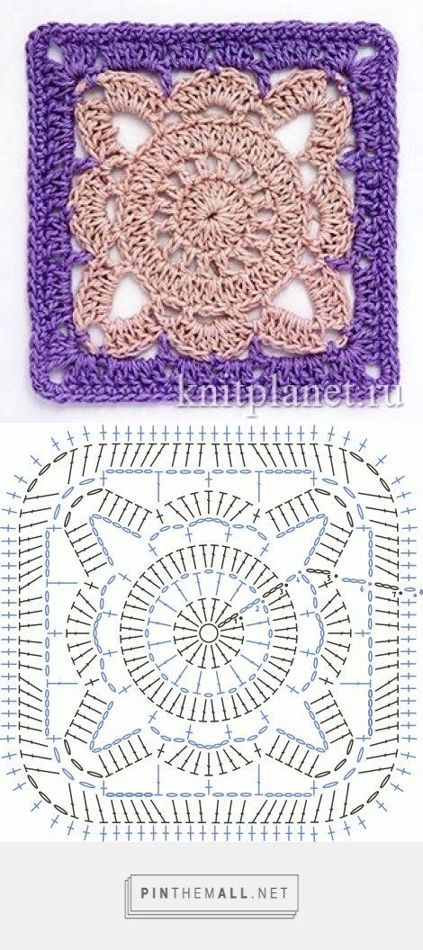 Square Motif - Free Crochet Diagram - (knitplanet) | Knitting ...