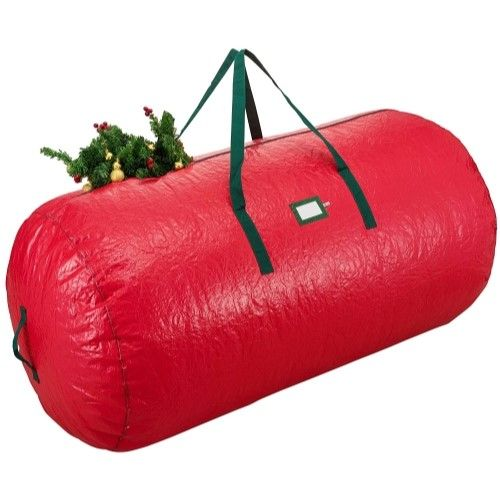 Zober Deluxe Red Holiday Christmas Tree Storage Bag Large 52x30x30