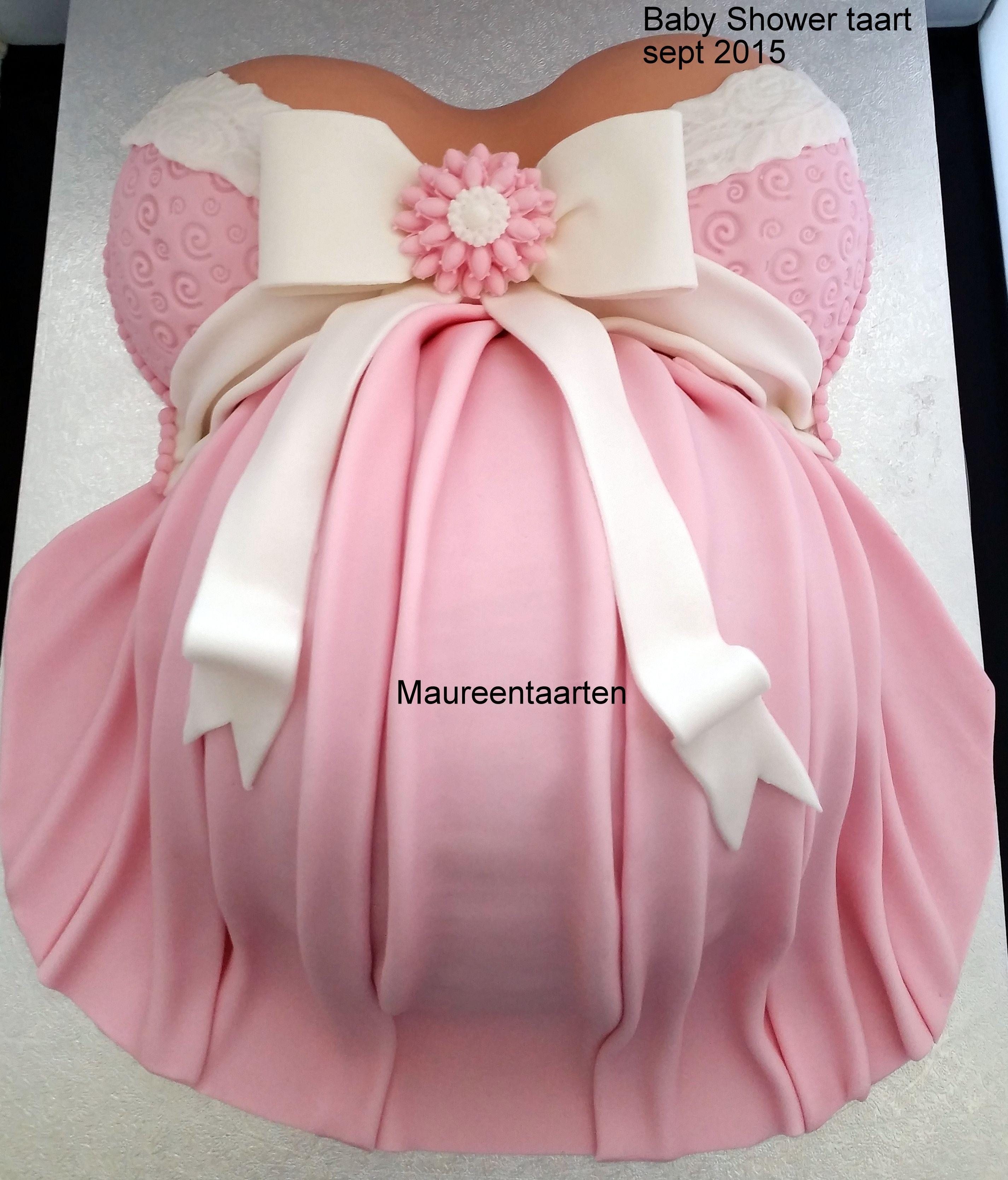 Pregnant belly cake zwangere buik taart …
