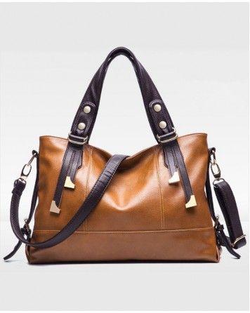 Oil wax Genuine Leather Cowhide Women handbags Fashion Women shoulder bags
