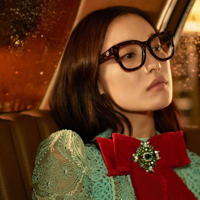 @gucci announces Chinese actress Ni Ni as its new ambassador for eyewear in Asia. Never thought we'd say this but we are loving the Manhattan Love Story star in #geekchic. - Sharon Tulasidas @sharontulasidas #ellesingapore #gucci #alessandromichele #glenluchford  via ELLE SINGAPORE MAGAZINE OFFICIAL INSTAGRAM - Fashion Campaigns  Haute Couture  Advertising  Editorial Photography  Magazine Cover Designs  Supermodels  Runway Models