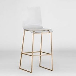Our acrylic bar stool is the perfect addition to modernize your kitchen or bar! This metal and acrylic Lucite barstool features a stylish mix of materials to create a modern eclectic look.$595  #talorton #intheshopnow #lucite #barstool #furniture #seat...