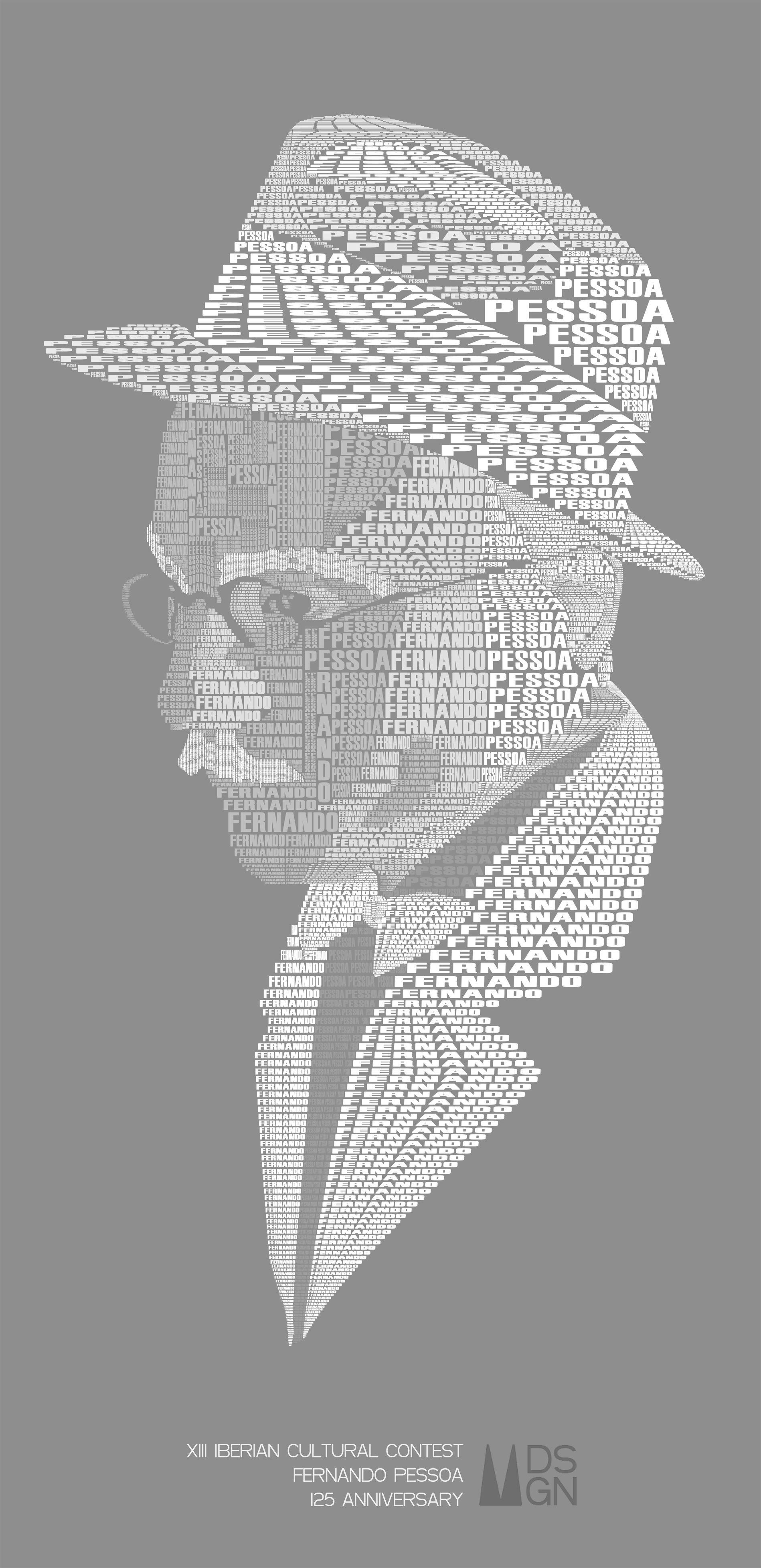 Manuel Palacios Graphic Design to the XIII Iberian Cultural Contest & Fernando Pessoa 125 Anniversary. Diseño gráfico para el XIII certamen cultural ibérico conmemorando el 125 aniversario Fernando Pessoa.