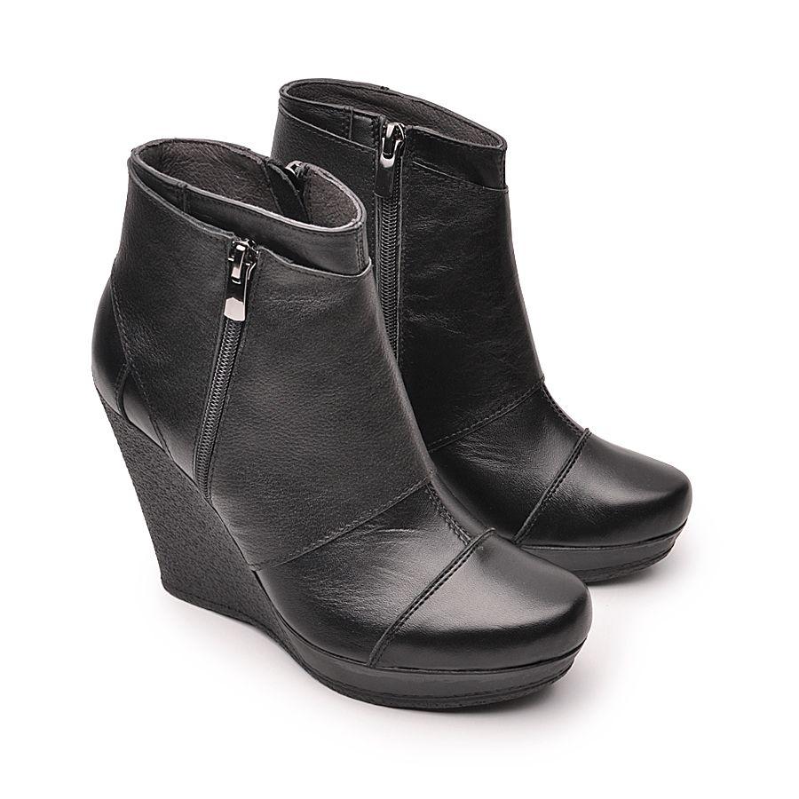 Wygodne Botki Na Koturnie Wedges Wloska Skora 5667728518 Oficjalne Archiwum Allegro Boots Shoes Wedge Boot