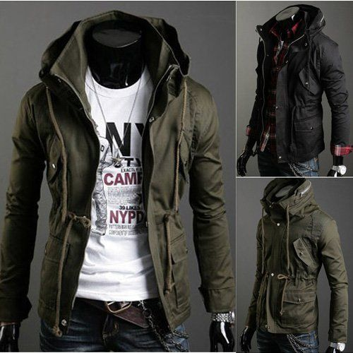 Couture Camo 24_High-Collar- Army Fatigue Mens Slim Fit Jacket ...