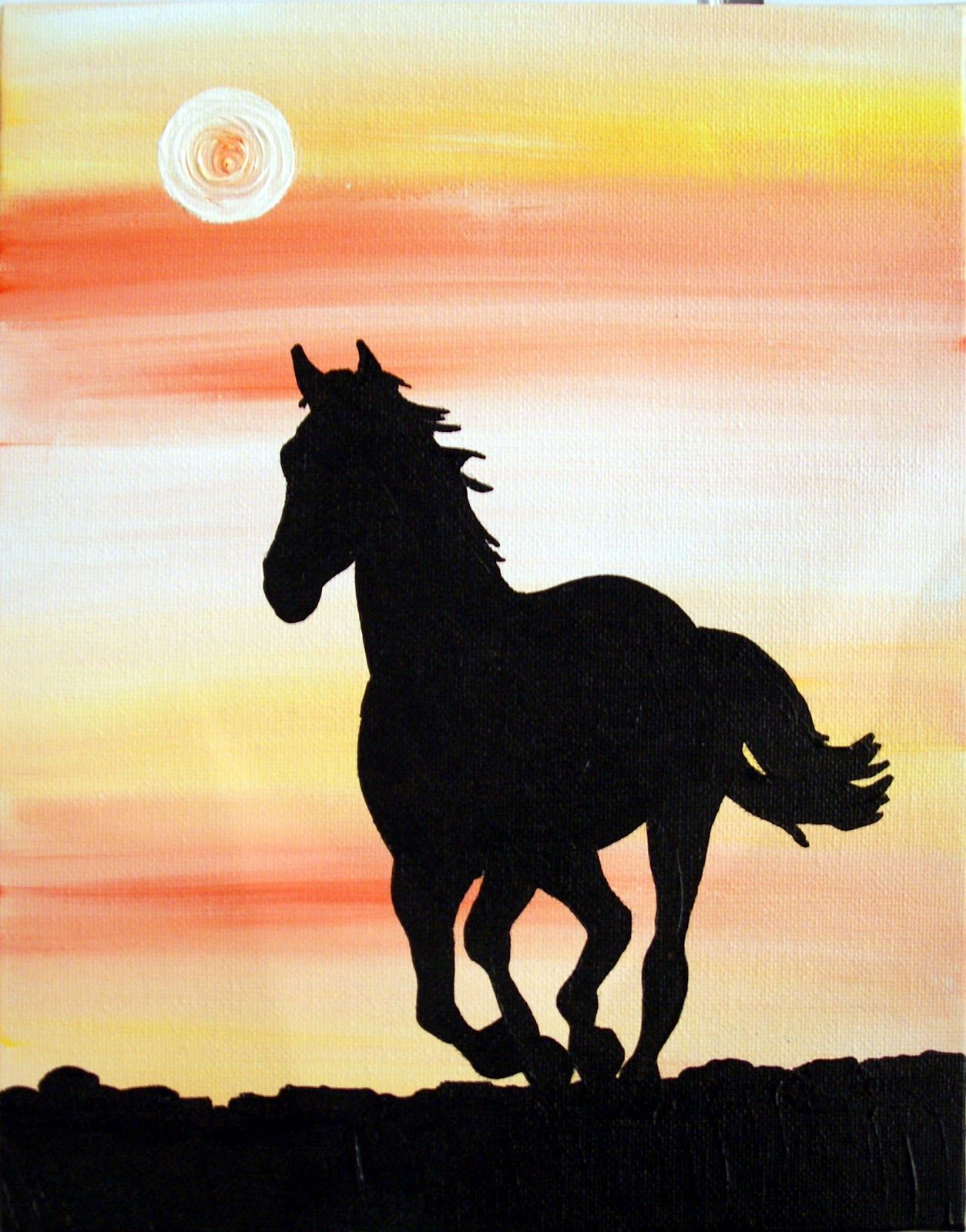 33   Cool Silhouette Painting Of for Silhouette Painting Of Animals  lp4eri