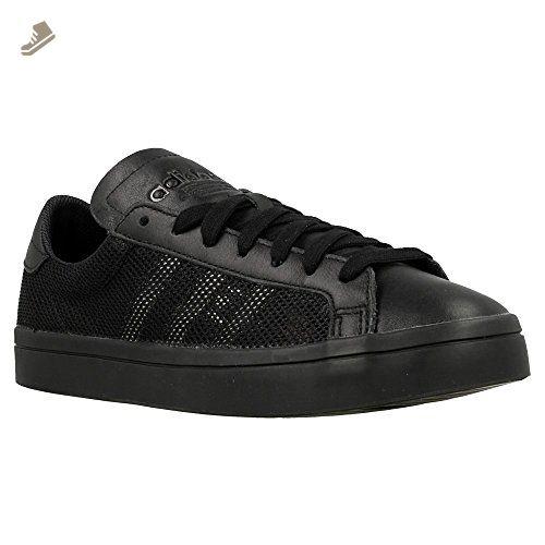 adidas Originals Court Vantage Sneaker Black S76660, Size:40 ...
