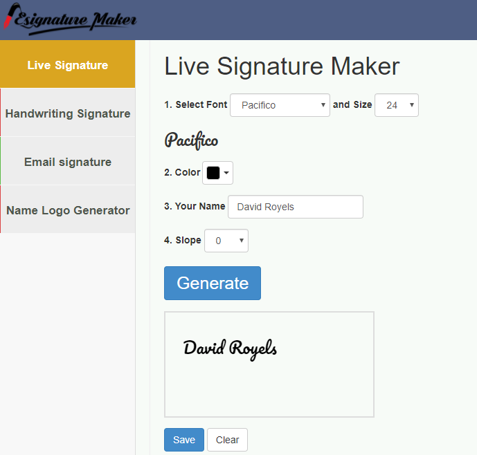 Digital Signature Generator Tool Create A Free Email Signature With Our Easy To Use Creator Signat Signature Generator Electronic Signature Signature Creator